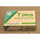 "T-PINS 2""  Half Pound Box   hobby supply dollhouse tools model making  38037"