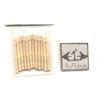 Half Scale - Staircase Spindles Dollhouse wood miniature H7019 12pcs Houseworks