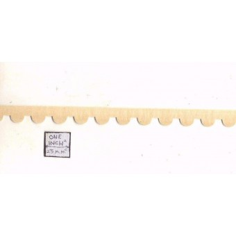 Scallop Gingerbread Trim 7079 molding dollhouse 1pc 1/12 scale Houseworks wood