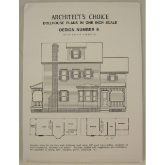 Dollhouse Plans Design #6 Architect's Choice 1:12 Scale
