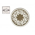 Faux Plaster Gilded Ceiling Medallion 34917 World & Model Faux 1/12 scale