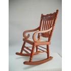 Woven Seat Rocking Chair 1.733/0  miniature dollhouse furniture wooden  rocker