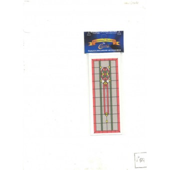 Simulated Stain Glass #SLIM19 dollhouse miniature fits door HW6033 1/12 scale
