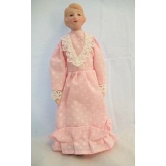 "Porcelain Doll Victorian Woman dollhouse miniature  1"" scale  1pc O6816"