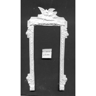 Door Frame  UMDF3 - dollhouse miniatures 1/12 scale - polyresin