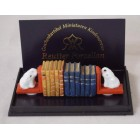 Bookend Set w/Books 1.887/8 Reutter Porcelain dollhouse miniature 1/12 scale