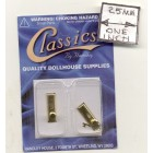 Door Knobs brass finish dollhouse miniature hardware CLA05528 2/pk 1/12 scale