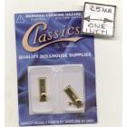 Door Knobs brass finish dollhouse miniature hardware CLA05528 2/pk 1/12 scale
