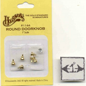 Brass Crystal Door Knob 1/12 scale dollhouse miniature hardware 1144  Houseworks