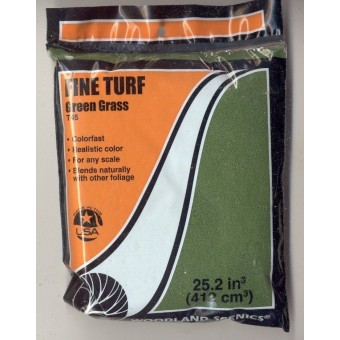 Foliage - Fine Turf T45 Green Grass  model landscape scenery 1/48 any scale