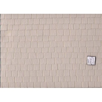 "Slate Tile Roof Sheet Beige 1/12 scale Model Builders Supply SLT-12  14""x24"" 1pc"