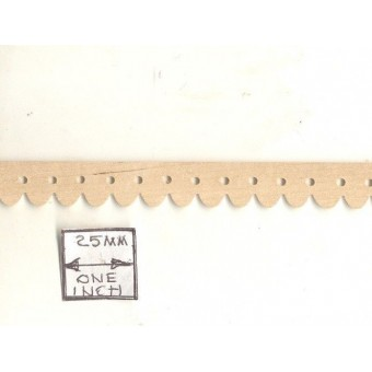Picket Gingerbread Molding CLA70300 miniature dollhouse 1/12 scale 1pc trim