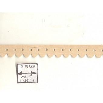 Picket Gingerbread Molding CLA70300 miniature dollhouse 1/12 scale 1pc trim