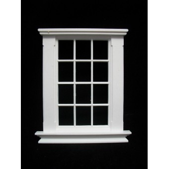 Window: Georgian 12 Pane w/o pediment Window Jacksons Miniatures 1/12 scale B06