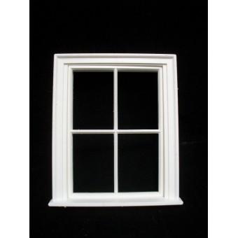 Window: Victorian 4 Pane Small Window Jacksons Miniatures plastic 1/12 scale B13