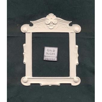 Over-mantel Frame   1pc -  UMC3  polyresin 1/12 scale dollhouse miniature