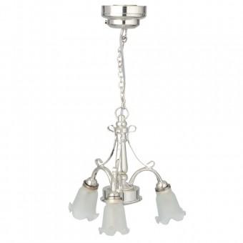 Light LED  Chandlier 3-Arm Tulip lamp 2360  dollhouse 1/12 miniature