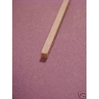 "1/16 x 1/16 x 24"" Model Lumber strip basswood craft 5pcs"