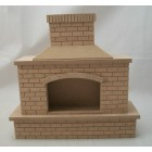 Fireplace - Outdoor Brick -  2409 dollhouse miniature 1/12 scale Houseworks wood