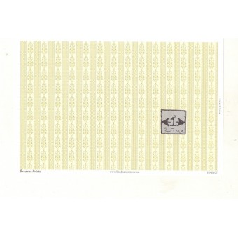 Brodnax Prints - Josephine HNE107  wallpaper Half 1/24 Scale 1pc dollhouse.