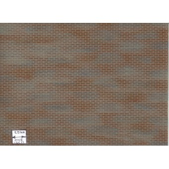 Half Scale - Latex Brick Sheet aged 1:24 miniature Dollhouse  #H8209 Houseworks
