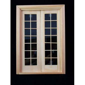 Door -Double French - wooden dollhouse miniature  6011 1/12 scale Houseworks