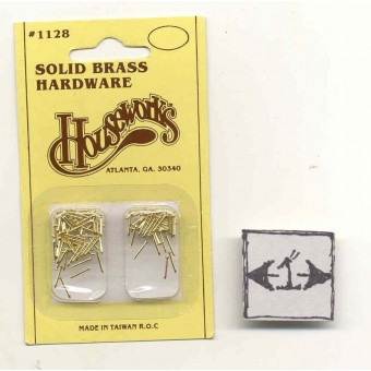 "Brad nails 1/4"" brass dollhouse miniature hardware #1128"