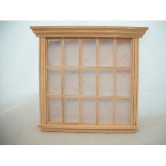 Window - 15-Light w/ trim 1/12 scale wooden dollhouse miniature 5061 Houseworks