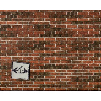 Embossed Dark Brick Sheet 34978 wallpaper World & Model dollhouse 1/12 scale 1pc