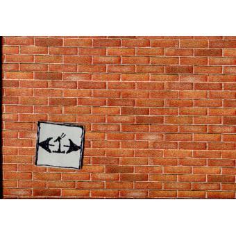 Embossed Brick Sheet  34977  wallpaper World & Model dollhouse 1pc 1/12 scale
