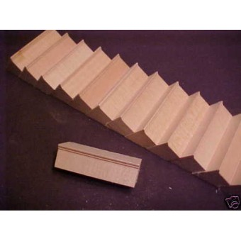 Staircase steps dollhouse trim unassemled supplies 15pc 1/12 scale Stairs Kit
