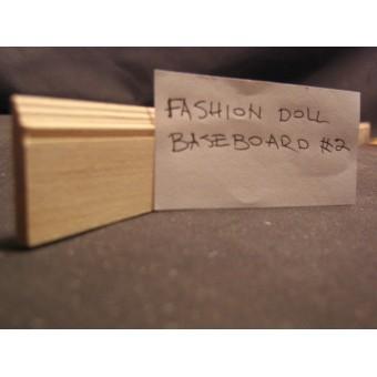 "Fashion Doll 1""  Baseboard  #2    miniature dollhouse trim  4pcs 1/12 scale MW"