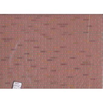 "Brick -  Farmhouse Rough Red - Sheet 1/12 scale Dollhouse  14""x24"" 1pc MF1-06"