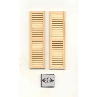 Shutters #5025 dollhouse 1:12 scale miniature window 1pair wooden Houseworks
