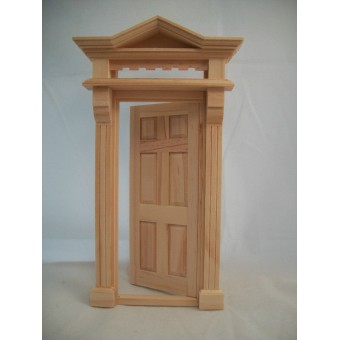 Victorian 6-Panel Door -  #6013  dollhouse fairy miniature 1pc wooden Houseworks