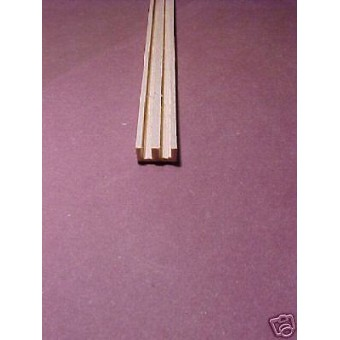 "Double 1/8"" Groove Stock dollhouse trim molding for 1/12 Scale  1pc"