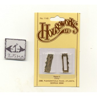Letter Slot - Mail  Box  dollhouse miniature  hardware   #1148 brass  1/12 scale