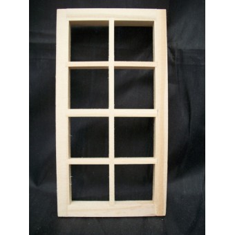 "8-Light Window 2-1/2x5"" dollhouse 1:12 scale #5023 1pc  Houseworks"
