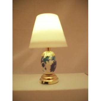 Light - LED Blue Table Lamp 2301 replaceable battery  dollhouse 1/12 scale