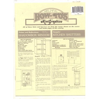 """Helpful How-To's"" Minigraphics Booklet 1/12 scale MG116 - dollhouse decor ideas"