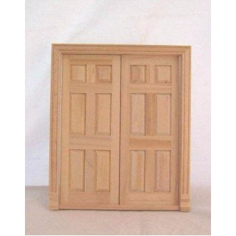 Door Double Interior  #6026  Dollhouse miniature wooden   1/12 scale Houseworks