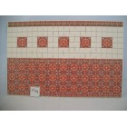 Victorian Wall Tile sheet W&M  dollhouse  34422 1pc 1/12 scale Heavy Card Stock