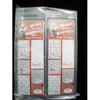 """Magic Masonry RED BLOCK  4sqft dollhouse miniature SW531R 1/12 scale"