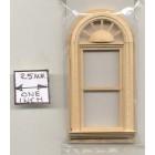 Half Scale Window - Palladian Round Top - 1:24 Dollhouse wooden H5043 Houseworks