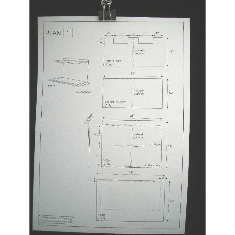 Dollhouse Plans Design 7 Architect/'s Choice 1:12 Scale Victorian Queen Anne