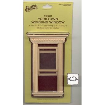 Window - Yorktown  working 1/12 scale dollhouse miniature Houseworks 5001 wooden