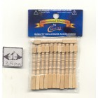 Spindles Balusters CLA70207 wooden dollhouse miniature 12pc