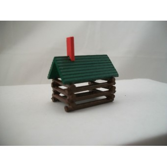 Log Cabin Toy - dollhouse miniatures  1/12 scale DHS1245  1pc