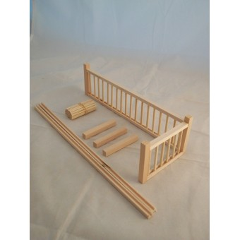 "Railing Kit #2A Stairs dollhouse balcony guard 12"" 1/12 scale miniature MW12082A"