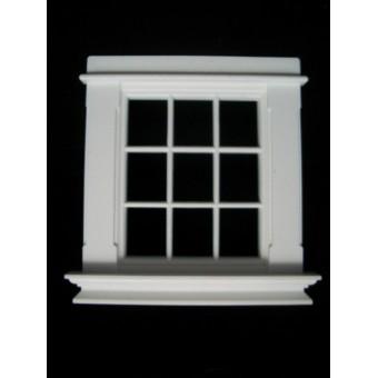 Window: Georgian 9 Pane w/o pediment Window Jacksons Miniatures 1/12 scale B08